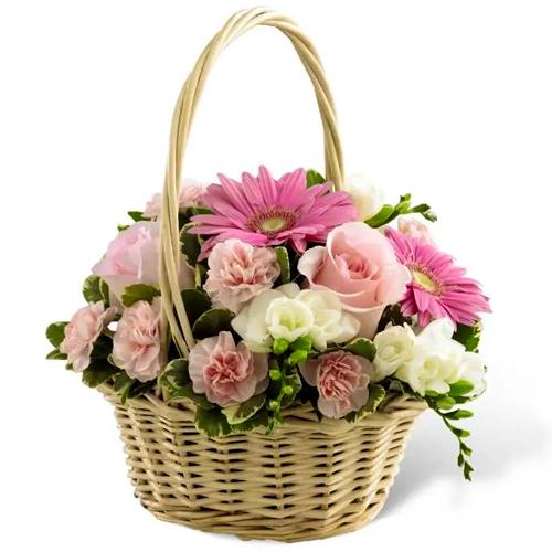 Attractive Arrangement of Multi-Hued Flowers