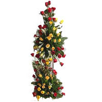 Order of Assorted Roses Tower Arrangement
