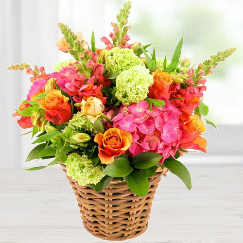 Tropical Mix Arrangement of Fresh Flowers with Fond Affection