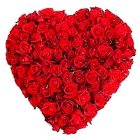 Exclusive Dutch Roses in Heart Shape Arrangement