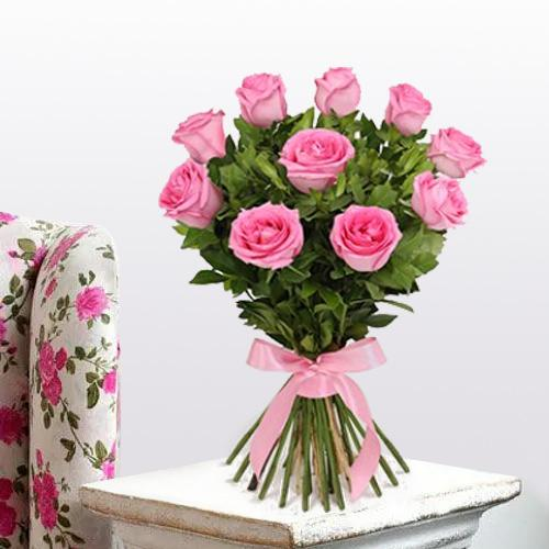 Exquisite Pink Roses Bouquet