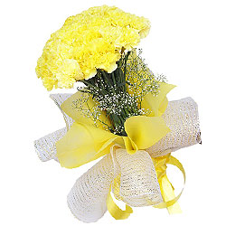 Glorious Bouquet of Yellow Carnations