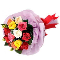 Bright Assorted Roses Bunch