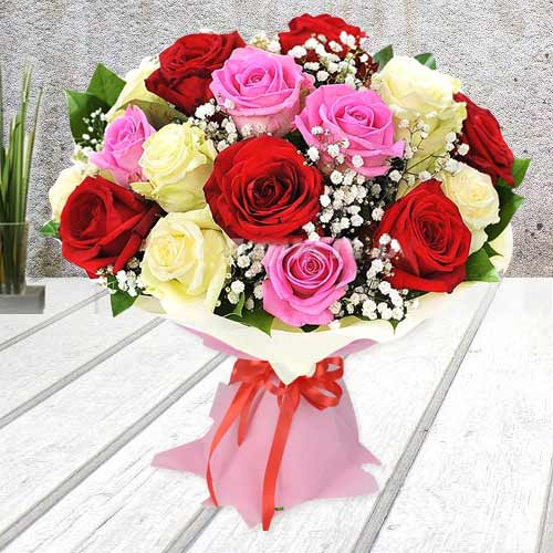 Amazing Mixed Roses Bouquet
