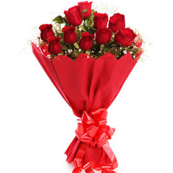 Dazzling Red Roses Bouquet