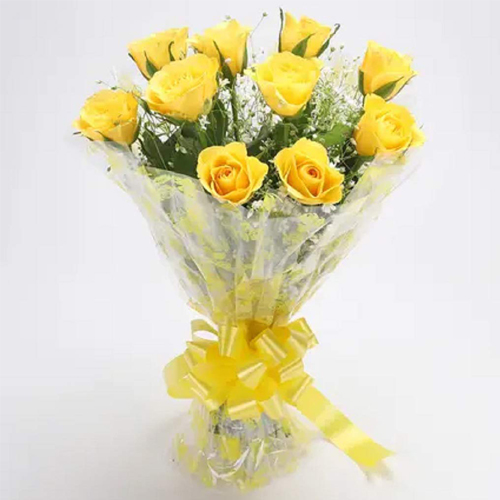 Exclusive Bouquet of Yellow Roses