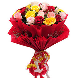 Charming Mixed Roses Bouquet