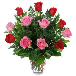 Attractive Arrangement of Roses in a Vase