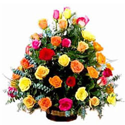 Lovely Arrangement of Mixed Roses