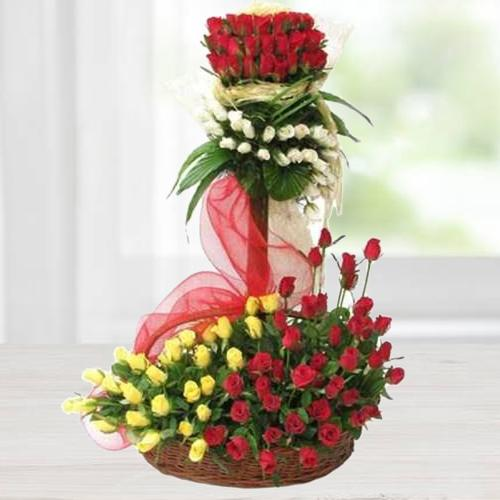 Exclusive Arrangement of Pompous Roses