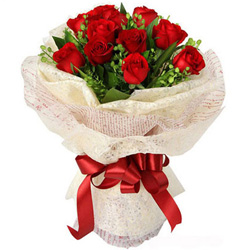 Beautiful Anniversary Red Rose Bouquet