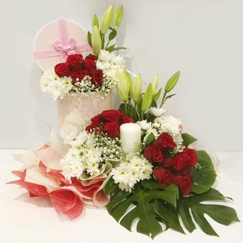Designer Arrangement of Mixed Flowers