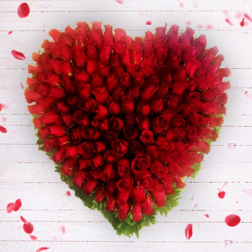 Remarkable 150 Red Roses Heart