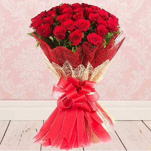 Tranquility Bouquet of Classic Red Roses