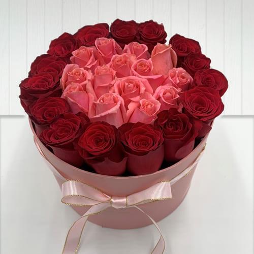 Premium Red N Pink Roses Gift Box