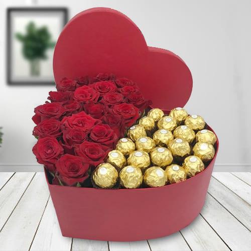 Classy Sweet 16 Celebration Heart Gift Box