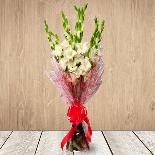 Amazing White Gladiolus Bouquet