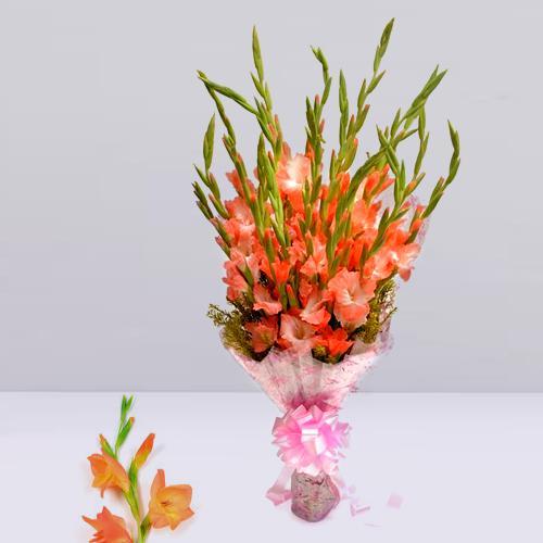 Mesmerizing Pink Gladiolus Bouquet