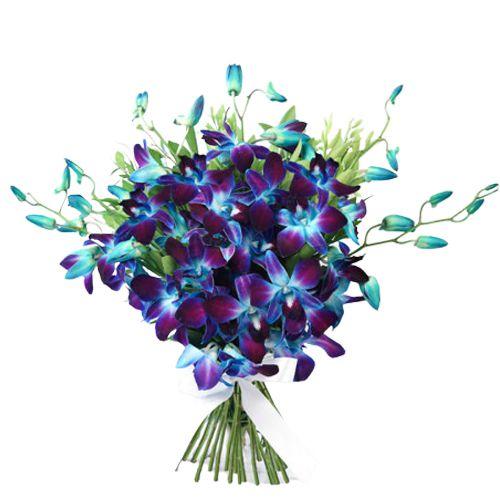 Impressive Blue Orchids Bouquet