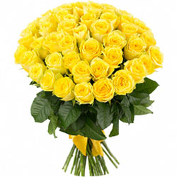 Dazzling Bouquet of Yellow Roses