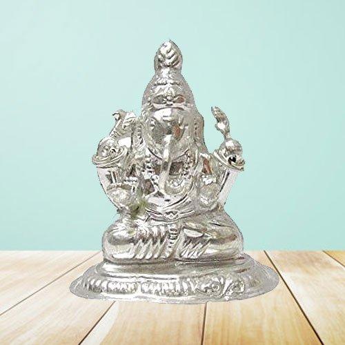 Marvelous Silver Ganesh Idol