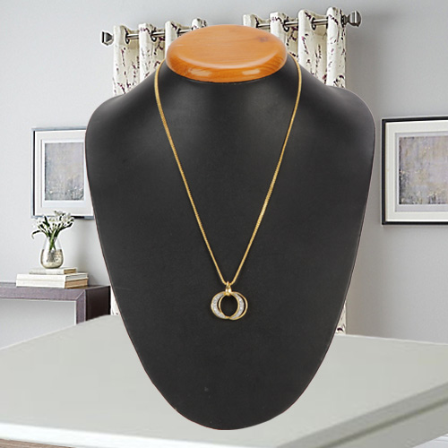 Marvelous Stone Beaded Pendant with Chain