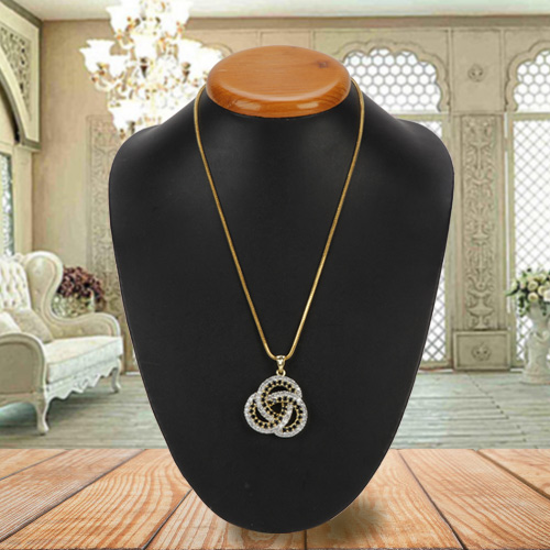 Stunning Diamond Pendant with Chain