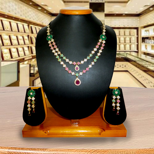 Marvelous Necklace with Earrings Set