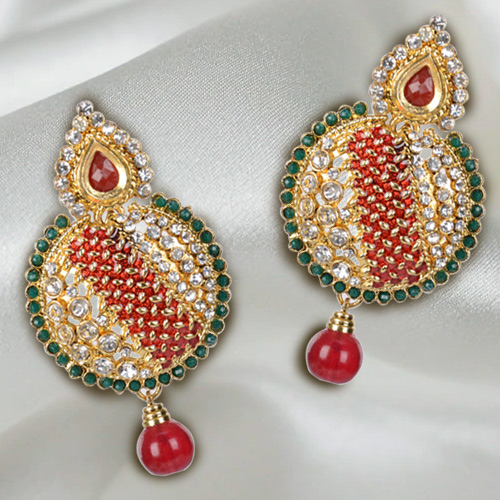 Lovely Earring Set Designed with Colorful Stones