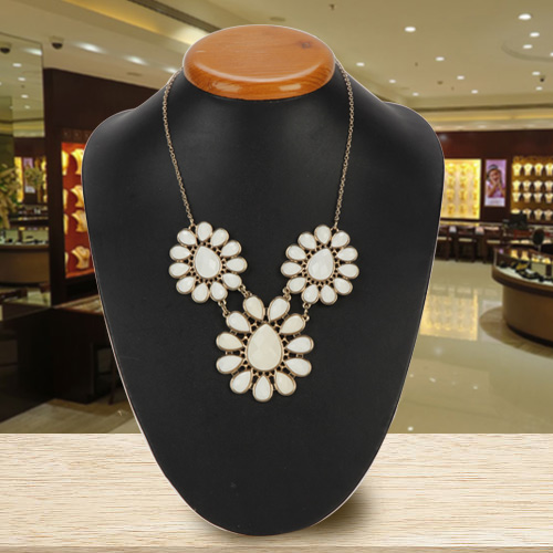 Marvelous Floral Clustered Necklace from Avon
