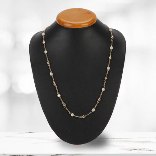 Wonderful Gold Plated Pearl Necklace from Avon