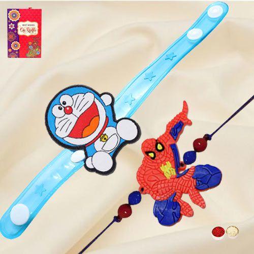 Exclusive Doraemon and Spiderman Rakhi
