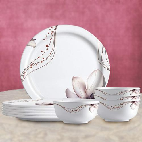 Ravishing Milton Melamine Multicolor Dinner Set