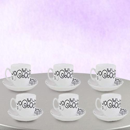 Ravishing LaOpala Opalware Misty Drop Cup n Saucer Set