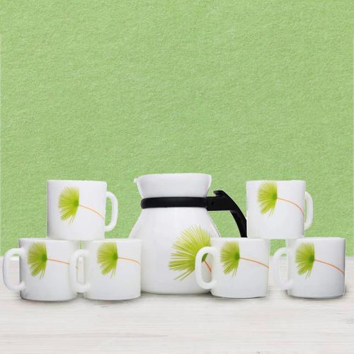 Lovely LaOpala Opalware Cup n Kettle Set