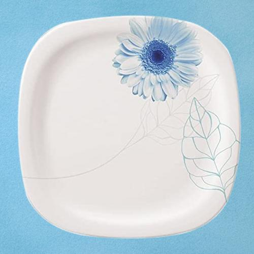 Beautiful Servewell Blue Daisy Square n Round Dinner Plates