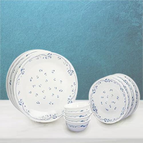 Marvelous Corelle Provincial Blue n White Glass Dinner Set