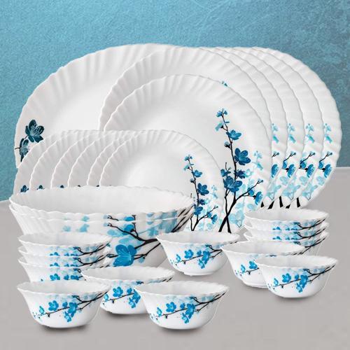 Designer Larah by Borosil Mimosa Opalware Dinner Set