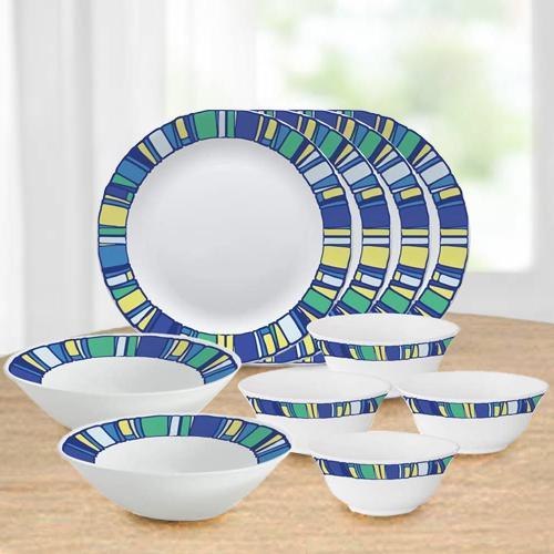 Captivating Larah by Borosil Tiara Series Opalware Dinner Set