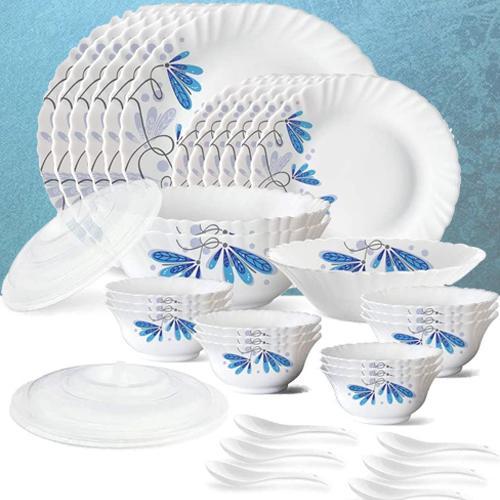 Gorgeous Larah by Borosil Twilight Silk Series Dinner Set