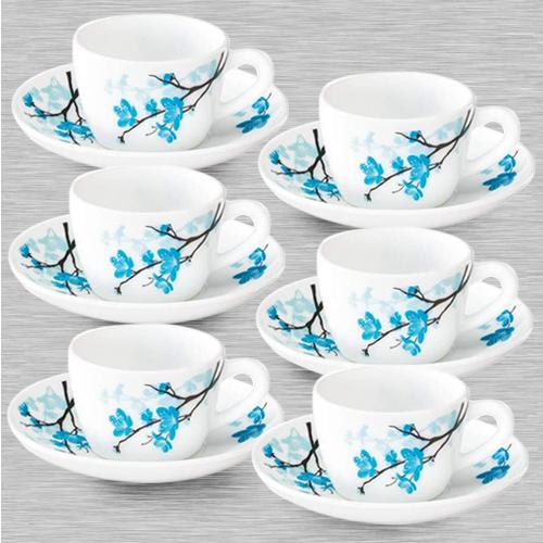 Captivating Larah By Borosil Mimosa Cup and Saucer Set