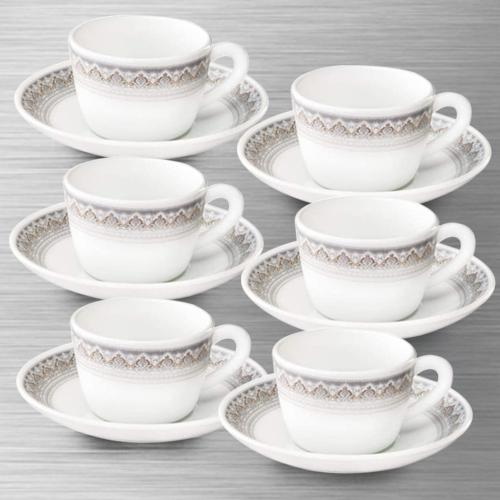 Fancy Larah by Borosil Classic Cup and Saucer Set