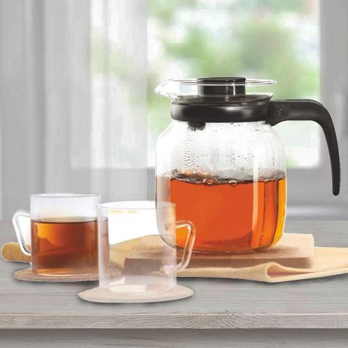 Striking Borosil Classic Tea Set