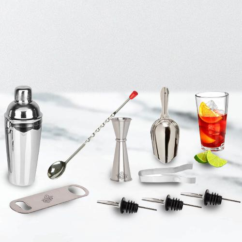 Outstanding 9 Pc Stainless Steel Bar Set