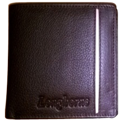 Mesmerizing Black Coloured Leather Gents Wallet from Longhorns