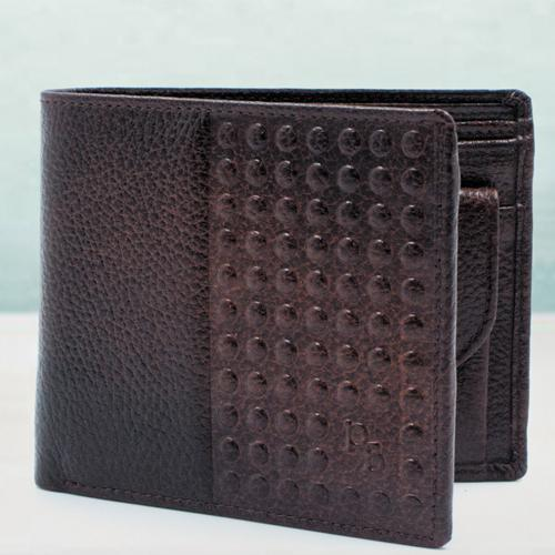 Classy Dark Brown Leather Wallet for Him
