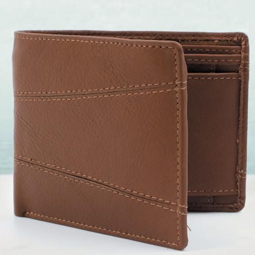 Remarkable Brown Color Leather Wallet for Him