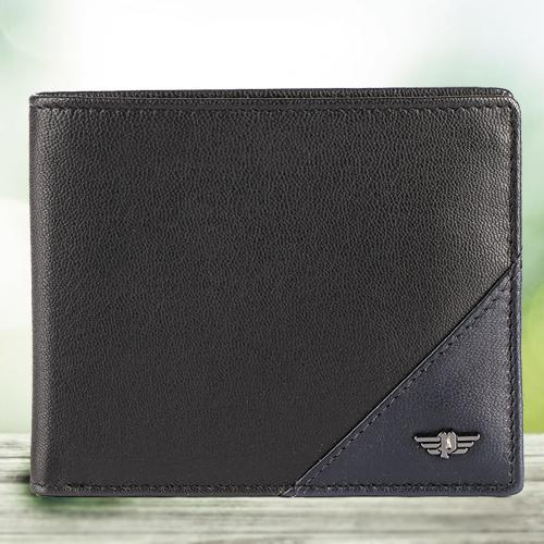 Exquisite Black Gents Leather Wallet from Police