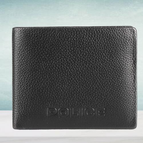 Wonderful Police Brand Mens Leather Wallet in Black
