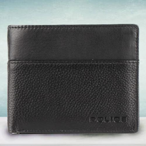 Remarkable Mens Leather Wallet in Black from Police
